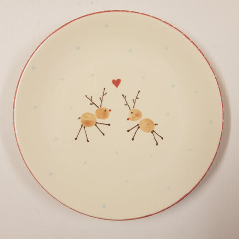 Christmas Animal Reindeer Plate