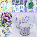 Floral Lavender Small Size Handpainted  Mug