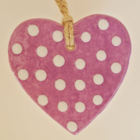 Hearts White Dotted Design - Mandy Mckenna Ceramic Artist