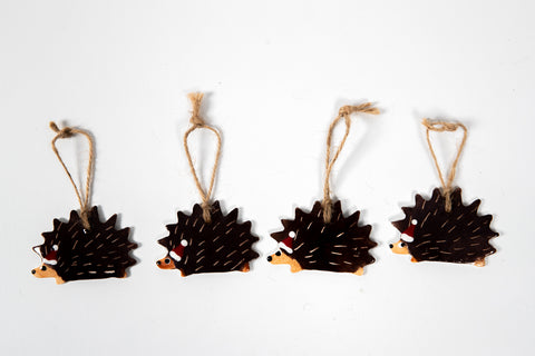 Christmas Hedgehog Decoration Set