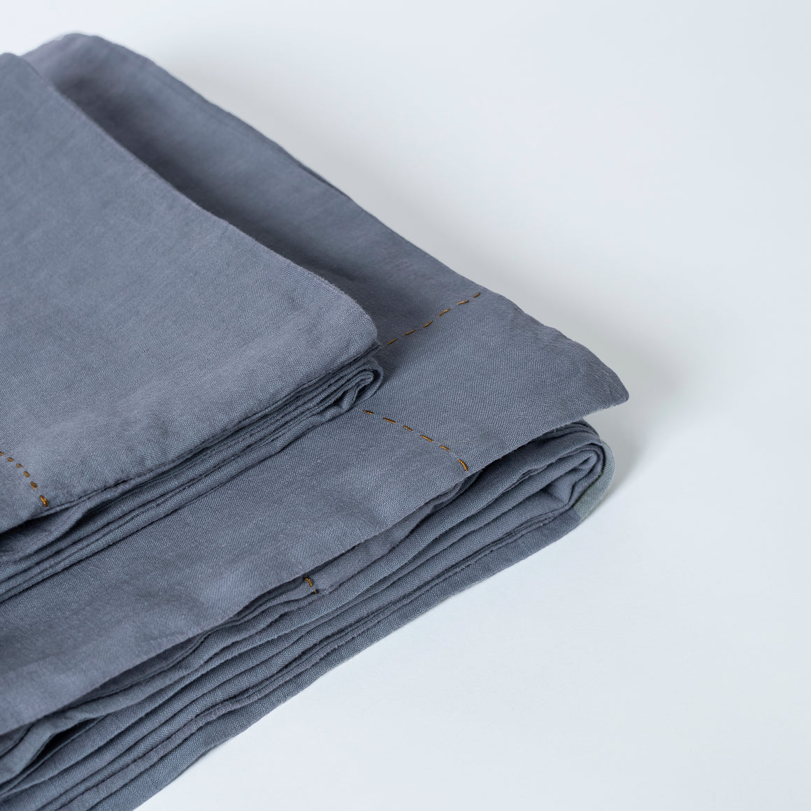 STONE WASHED LINEN DUVET SET SLATE GREY