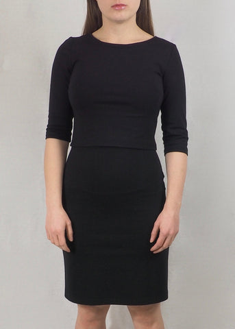 The Breastfeeding Dress - Black