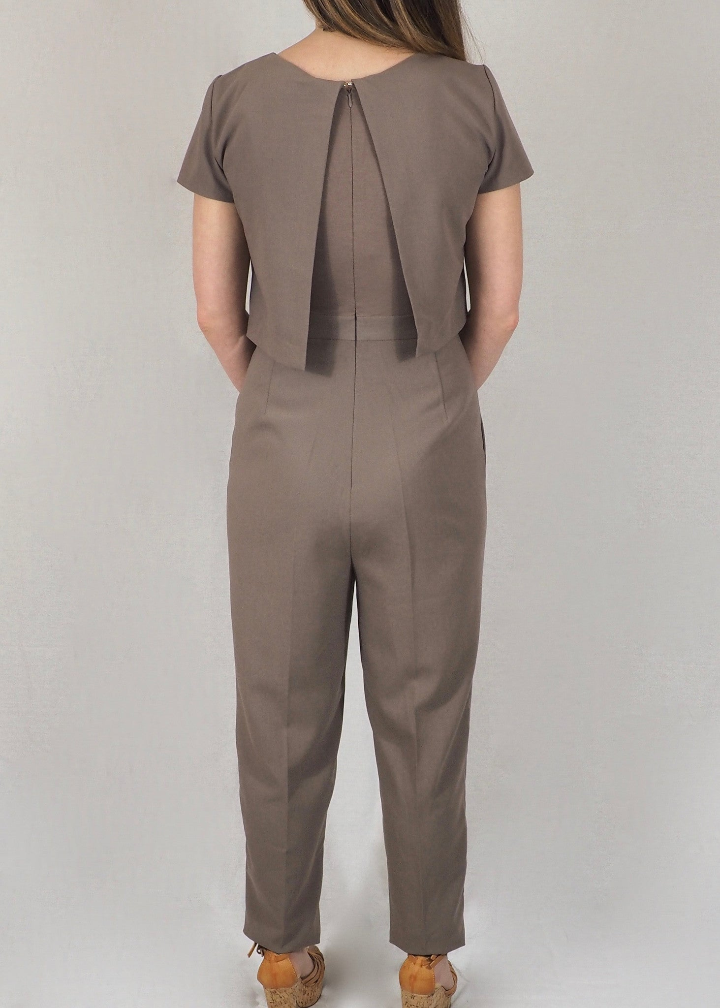 The Breastfeeding Jumpsuit - Taupe