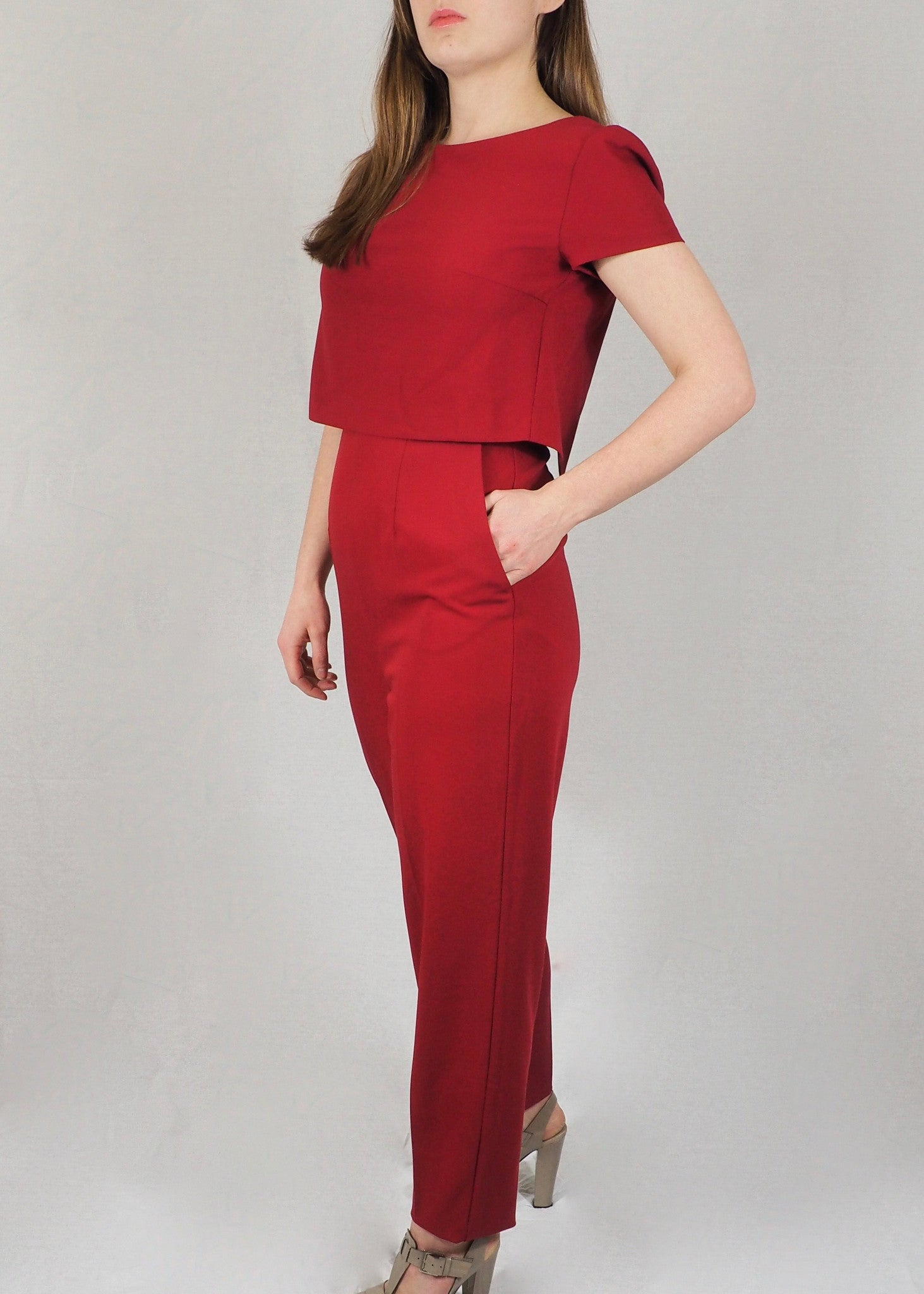 The Breastfeeding Jumpsuit - Red