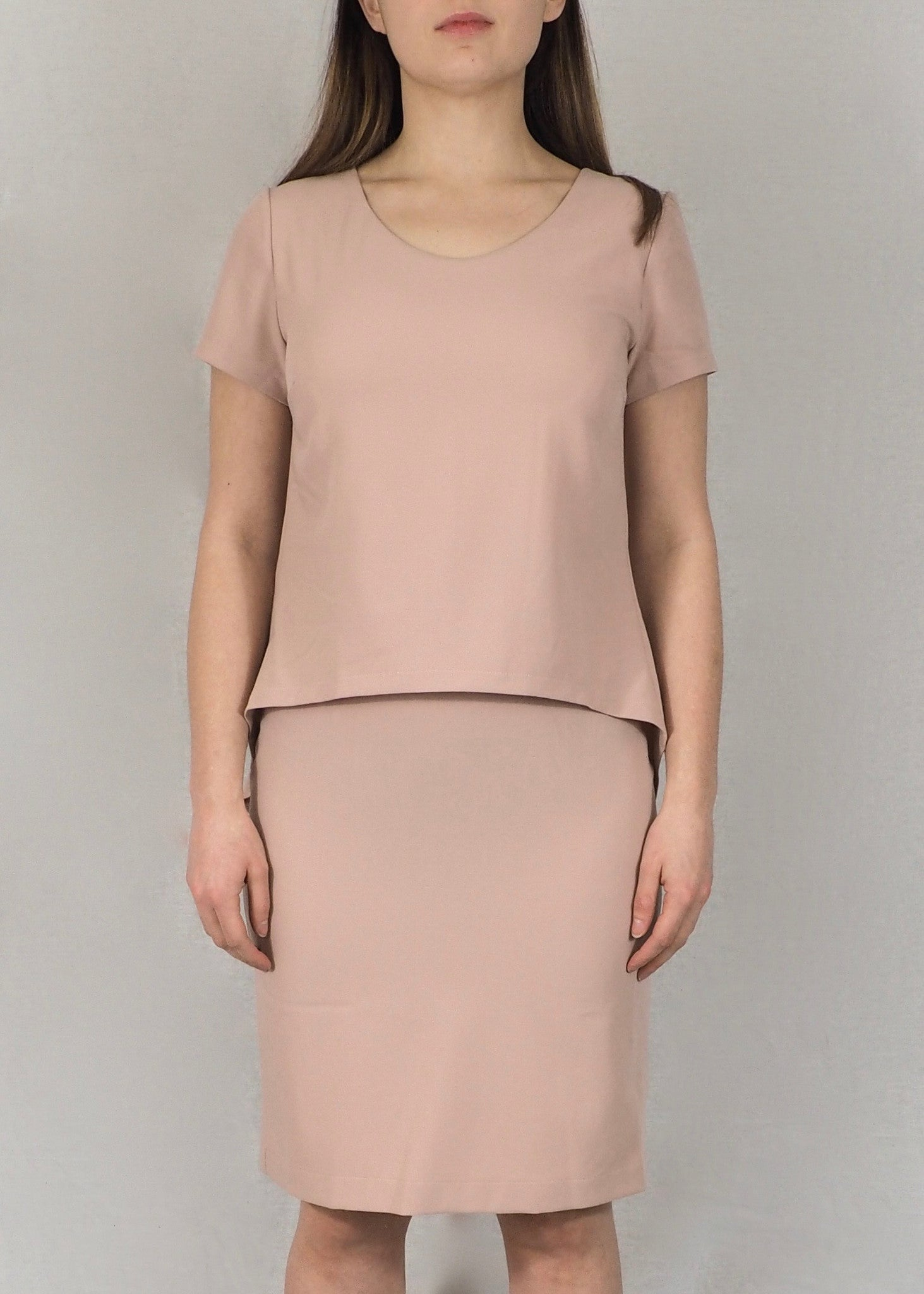 Split-Back Breastfeeding Dress - Blush