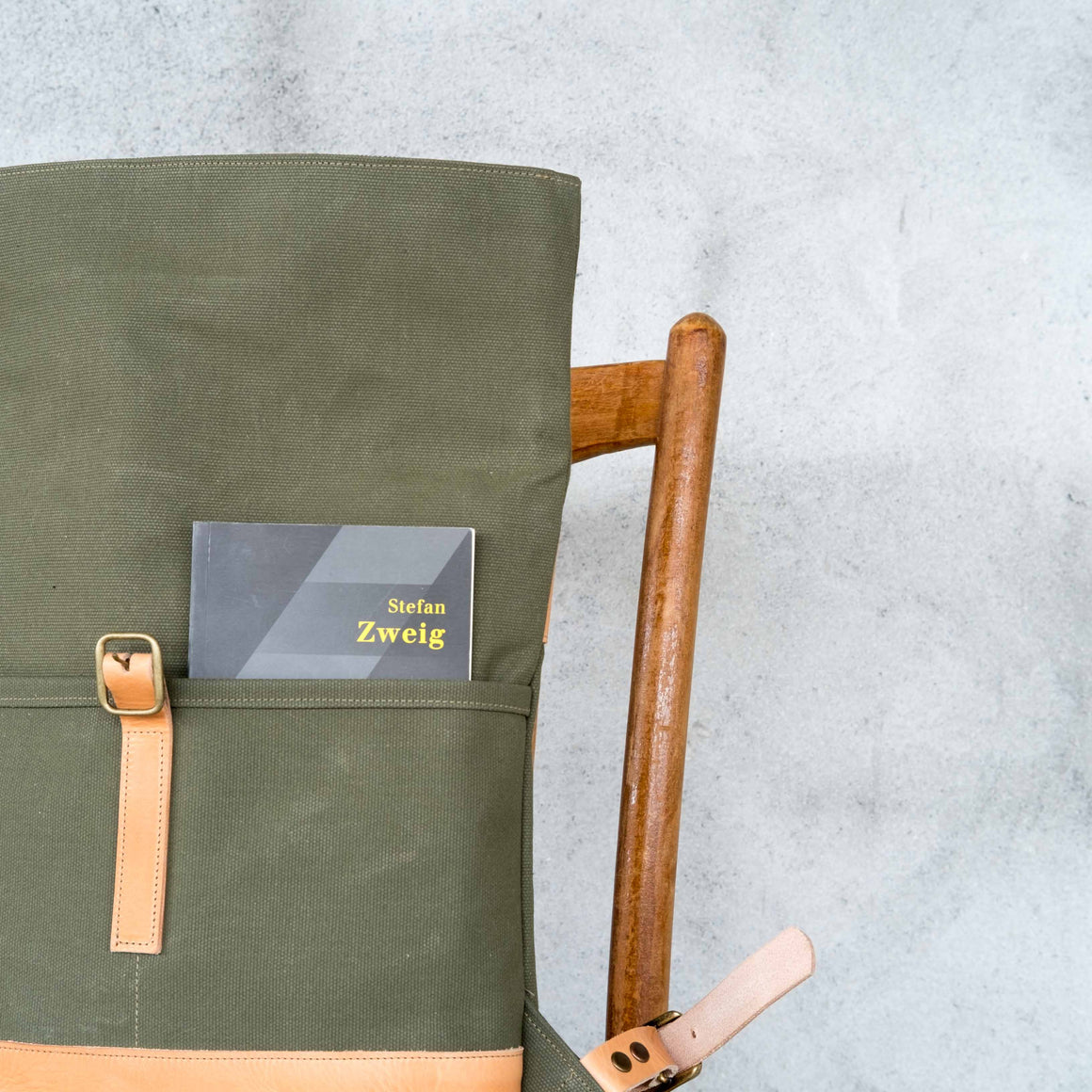 Gerda Backpack / Khaki Canvas 24oz