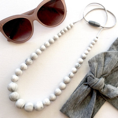 Marble Harlow Silicone Necklace