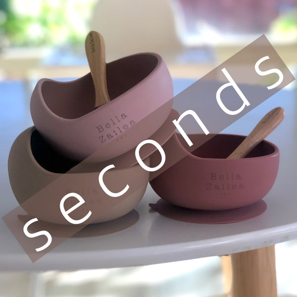SECONDS - Silicone Suction Bowls / Bowl & Spoon Sets