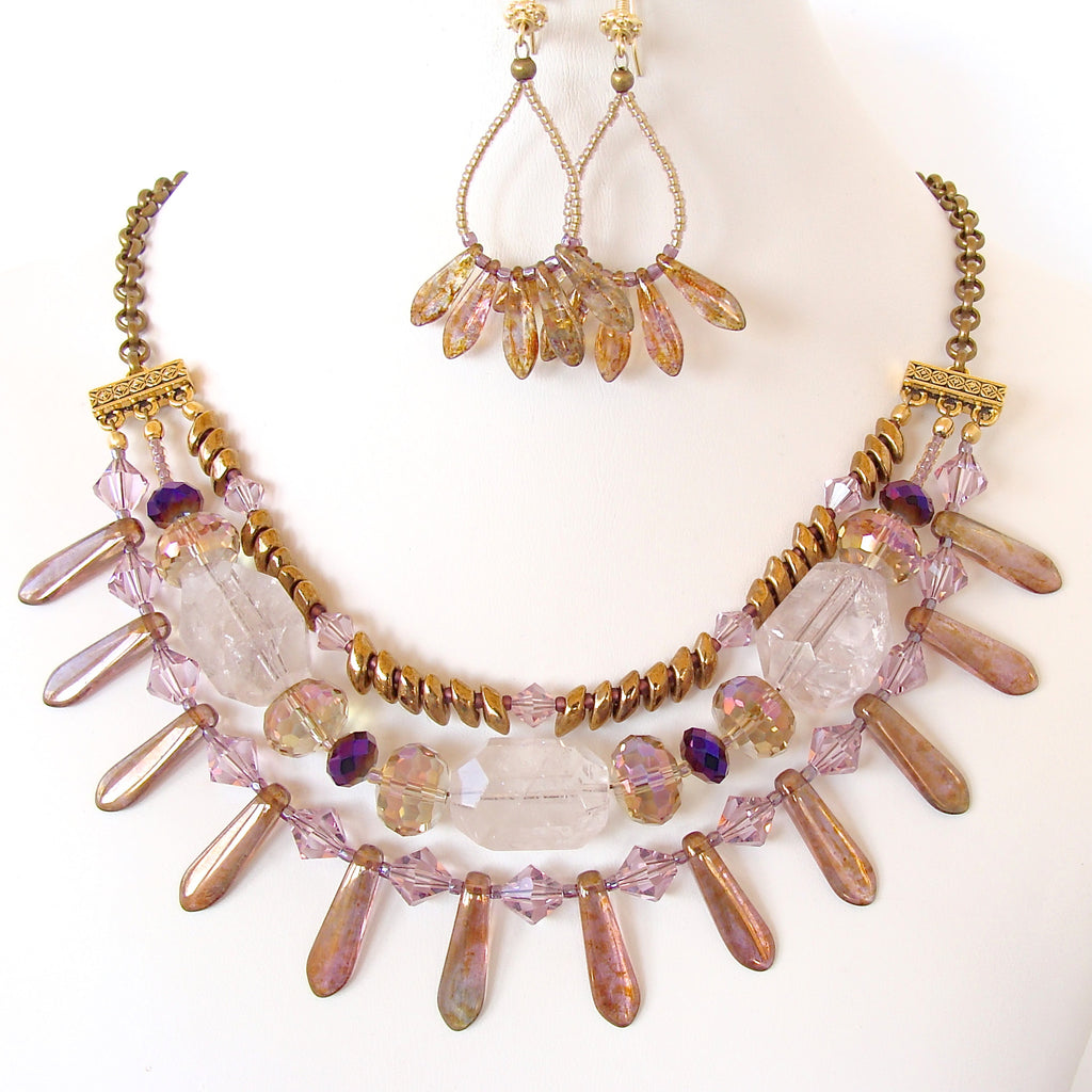 Amethyst Statement Necklace