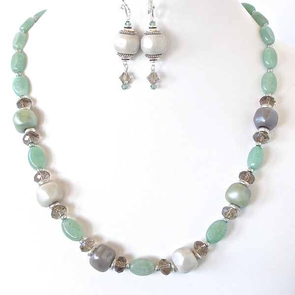 Aventurine Necklace Set