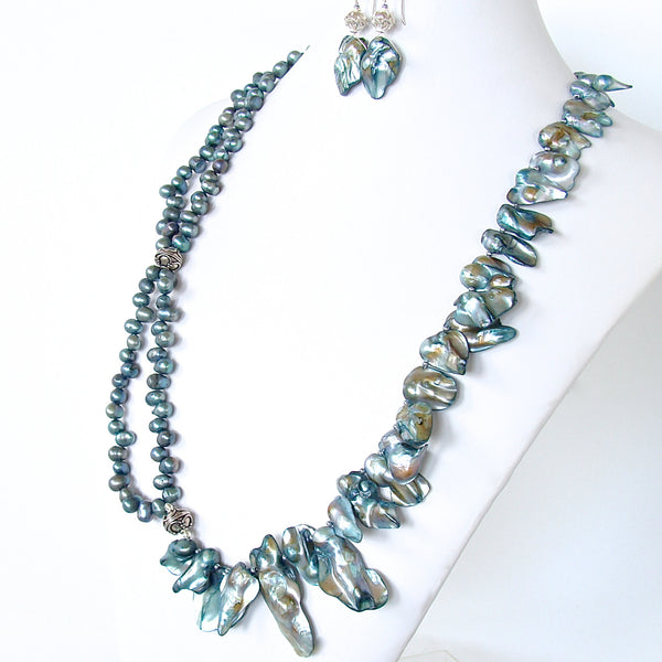 Sirene: Ocean Inspired Pearl Statement Necklace