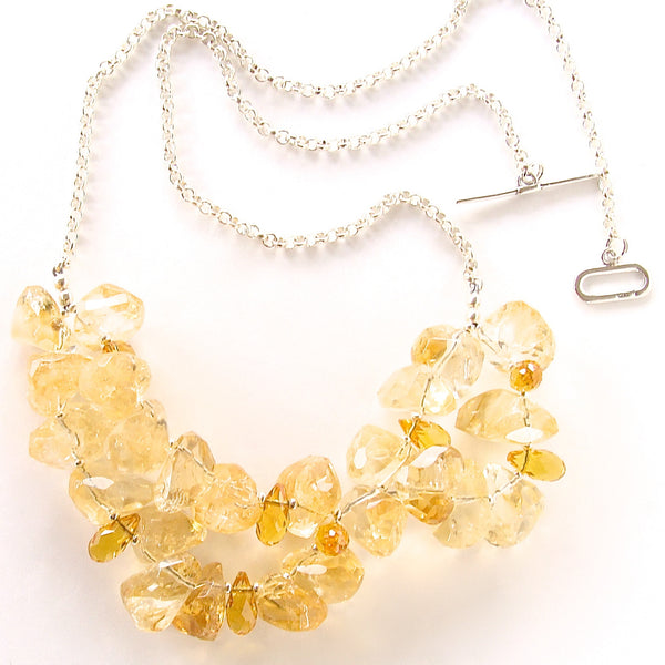 Beaded Citrine Necklace