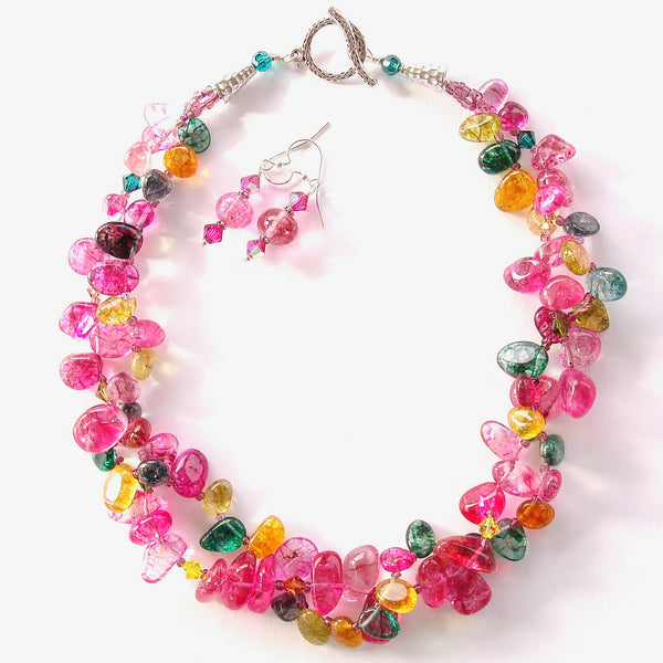 Beaded Multi Color Necklace Set