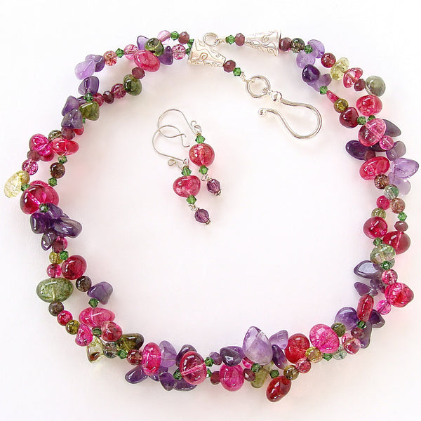 Beaded Multi Colored Necklace Set