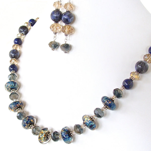 Black and blue necklace