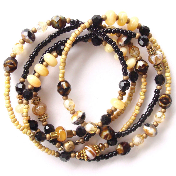 Black and yellow bracelet
