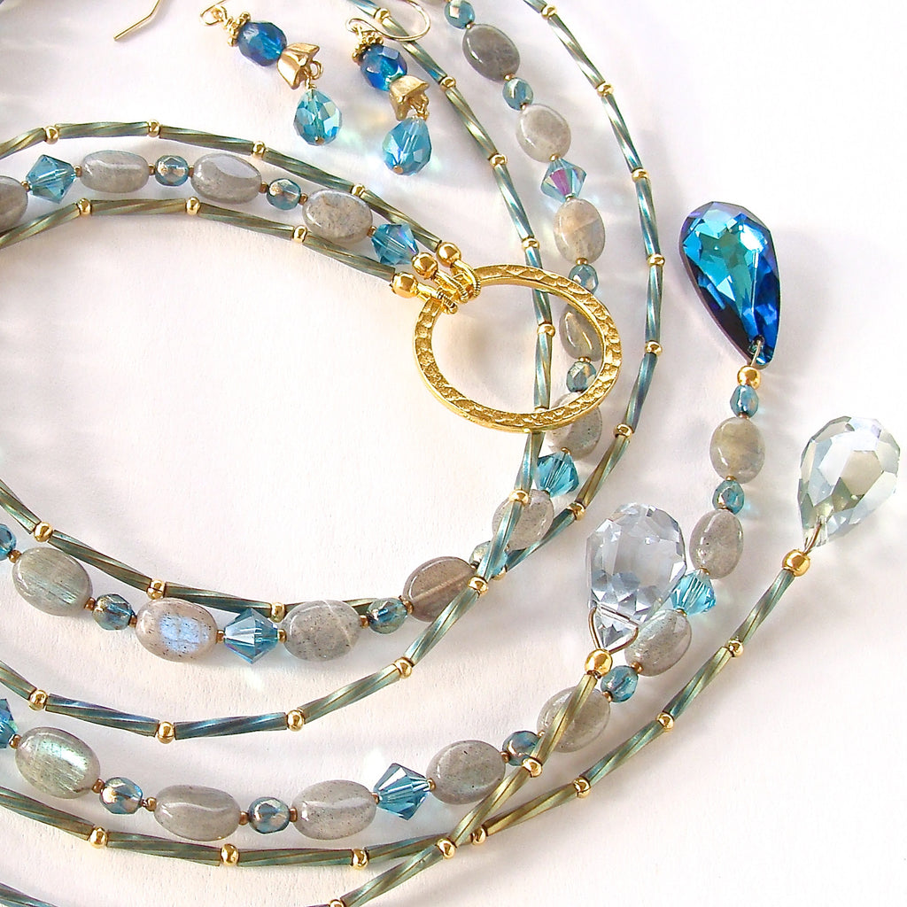 Moonshine: Labradorite Crystal Necklace
