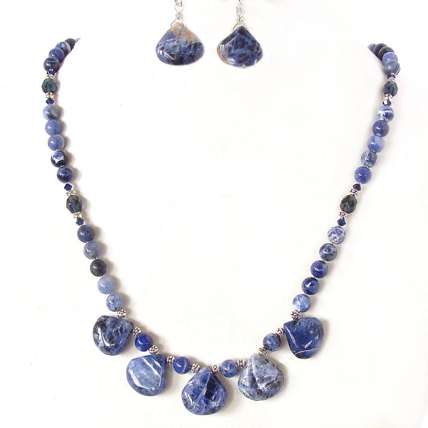 Blue Gem Necklace Set
