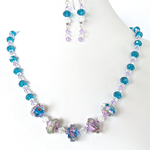 Persuasion: Blue Crystal Necklace Set
