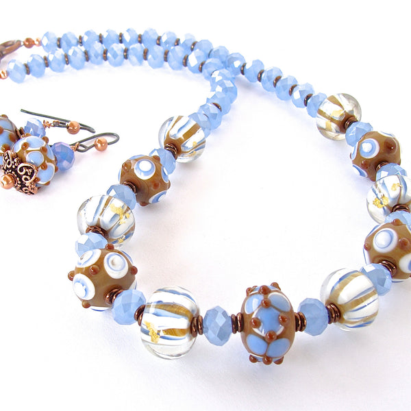 Dulce: Blue and White Necklace
