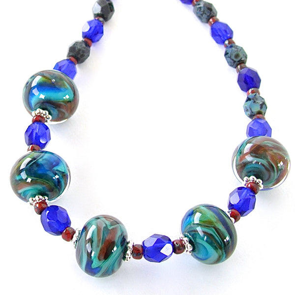 Blue and Green Beaded Jewelry