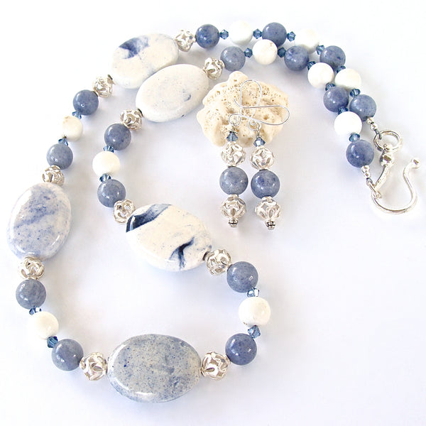 Blue and White Jewelry