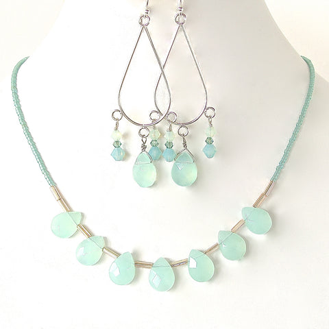 Chalcedony Necklace Set