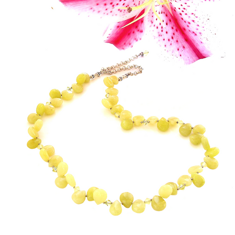 Chartreuse Necklace with Lemon Jasper