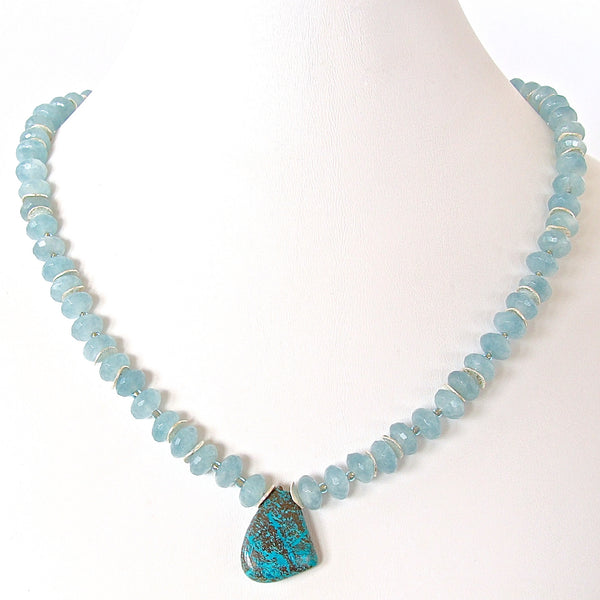 Chrysocolla Pendant Necklace