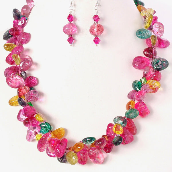 Chunky Gemstone Necklace Set
