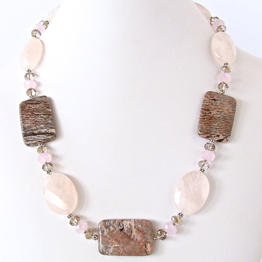 Chunky Rose Quartz Necklace