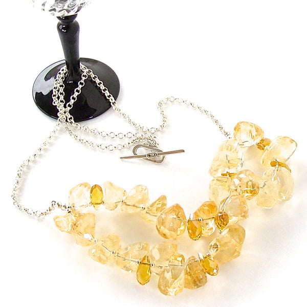 Citrine on Chain Necklace