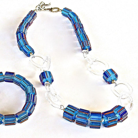 Cobalt Blue Glass Necklace