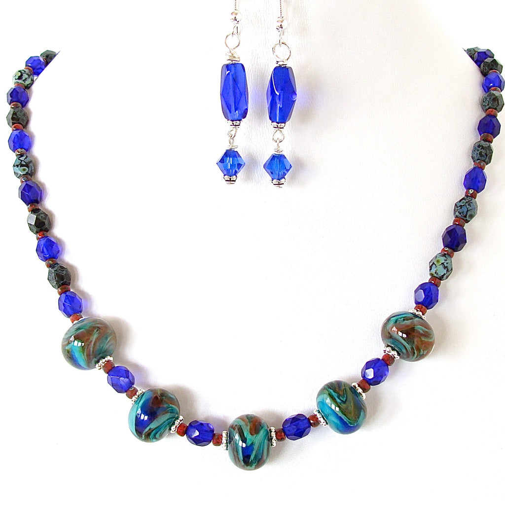 Cobalt blue jewelry