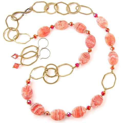 Coral Pink Necklace Set