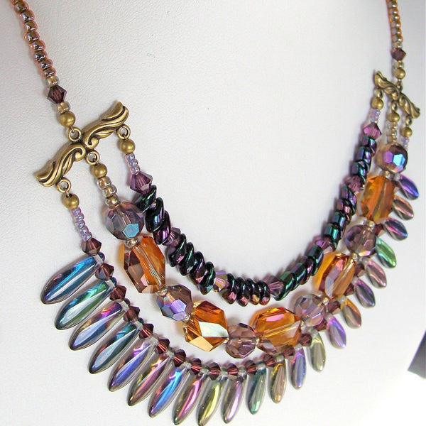 "Fireworks: 17"" Crystal Collar Necklace"