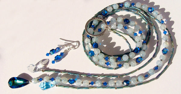 Crystal Necklace in Blue