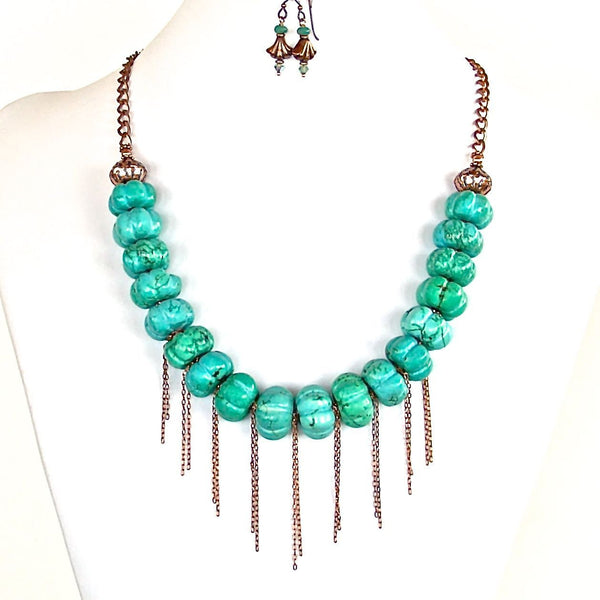 Fringe Boho Statement Necklace