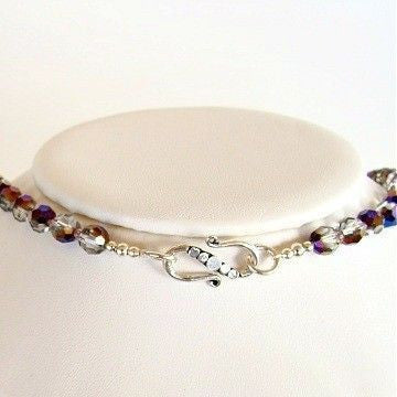 "Cattyleya: 17"" Purple Swarovski Crystal Necklace"
