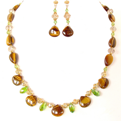 Gemini Gemstone Necklace Set