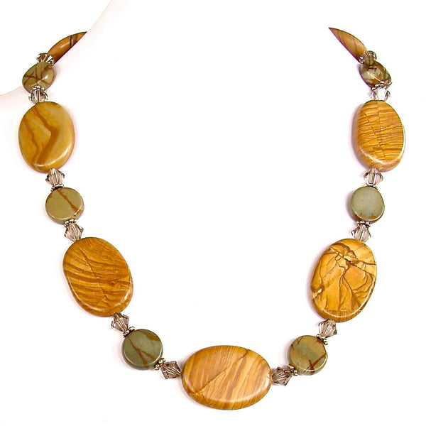 "Sandstorm: 22.5"" Gemstone Bead Necklace"