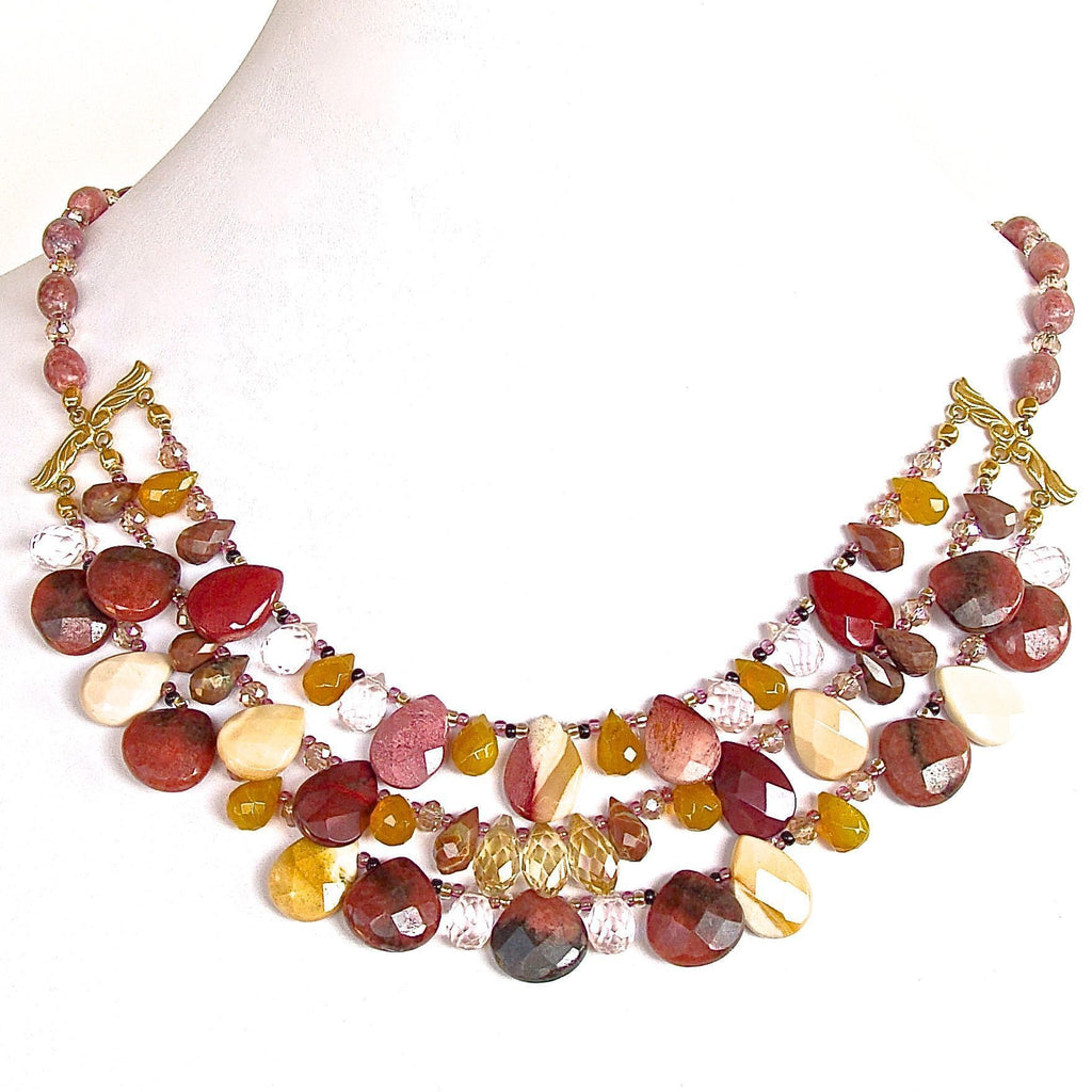 Gemstone Bib Necklace