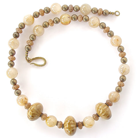 Golden Stone Necklace