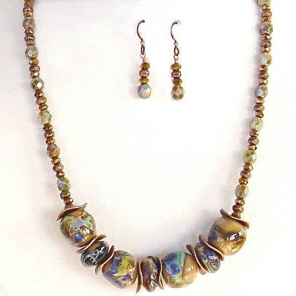 Handblown glass necklace set
