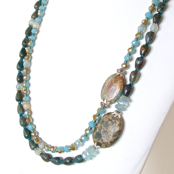 Handcrafted OOAK semi-precious Necklace