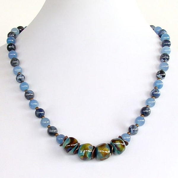 Handcrafted blue sodalite necklace