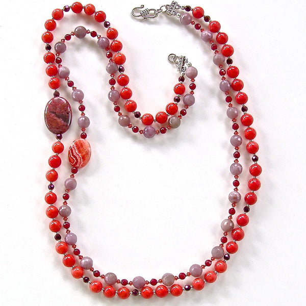 Handcrafted designer gemstone beaded jewelry