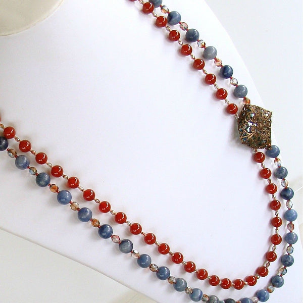 Handcrafted gemstone necklace