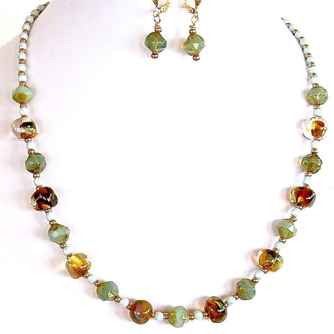 Handmade Artisan Glass Necklace