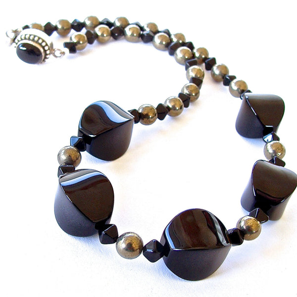 Handmade Black Gemstone Necklace